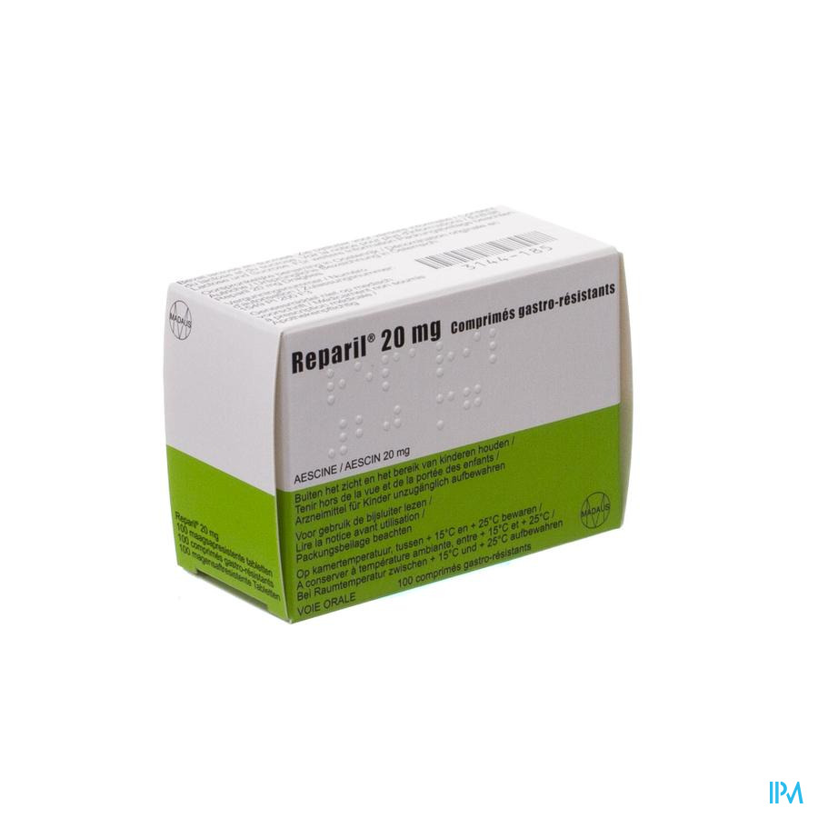 Reparil Impexeco 20mg Gastro Resist Comp 100 Pip