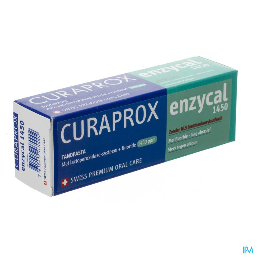 Curaprox Enzycal 1450 Tandpasta Tube 75ml