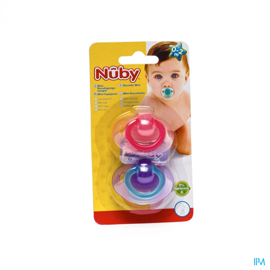 Nuby Fopspeen Pp Silicoon Ortho 0-2m 2