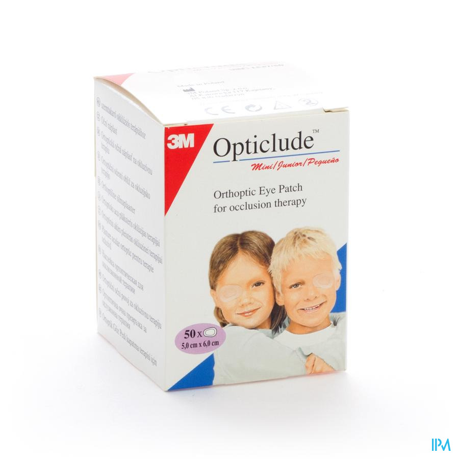 Opticlude 3m Junior Cp Oculaire 63mmx48mm 50 1537