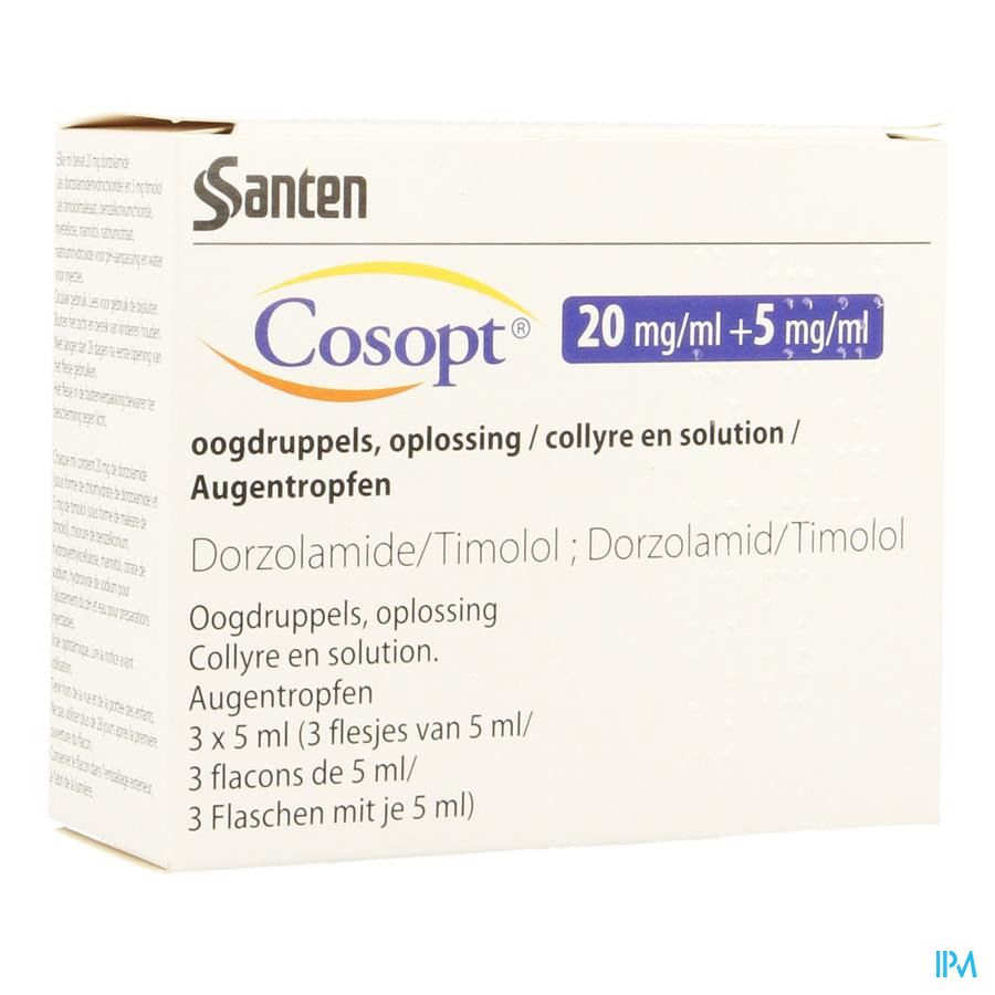 Cosopt Ocumeter Plus 20mg/5mg Collyre 3 X 5ml