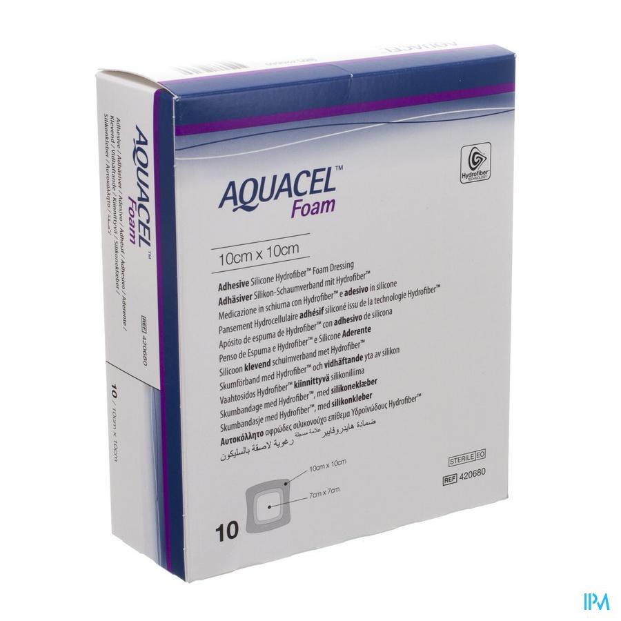 Aquacel Pans Mousse Adh Hydrofiber 10,0x10,0cm 10