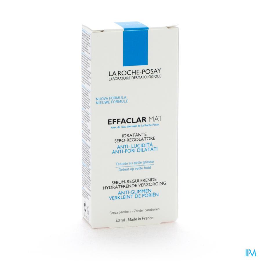 Lrp Effaclar Mat Hydra Sebo-regulat. S/parab. 40ml