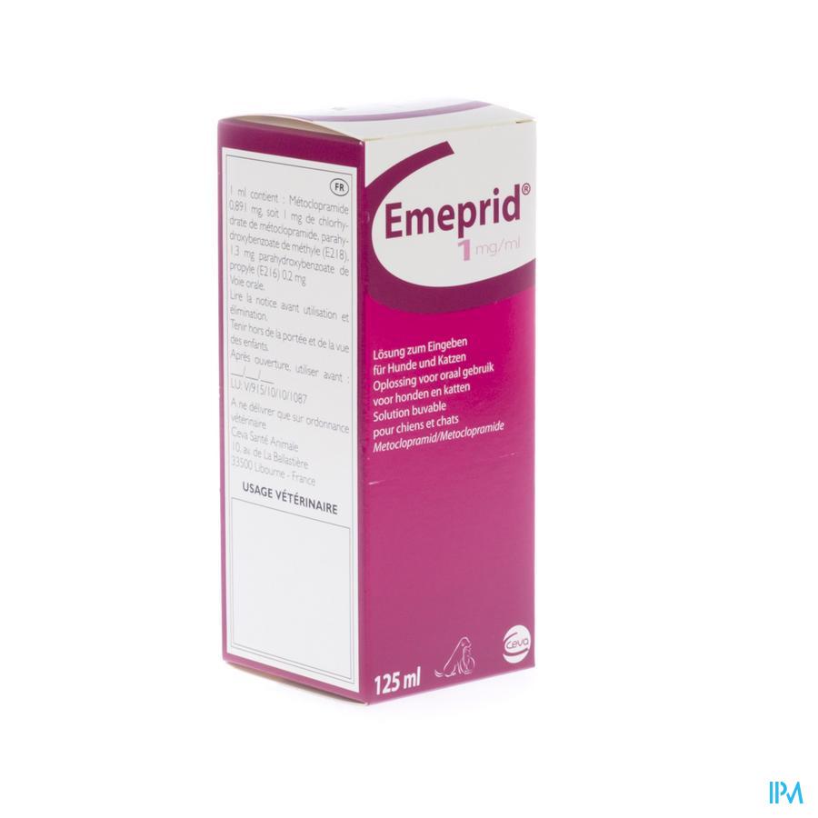 Emeprid 1mg/ml Sol Ora Chien Chat 125ml