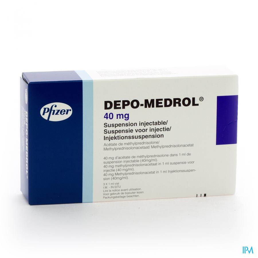 Depo-medrol Vial 3 X 40mg/1ml