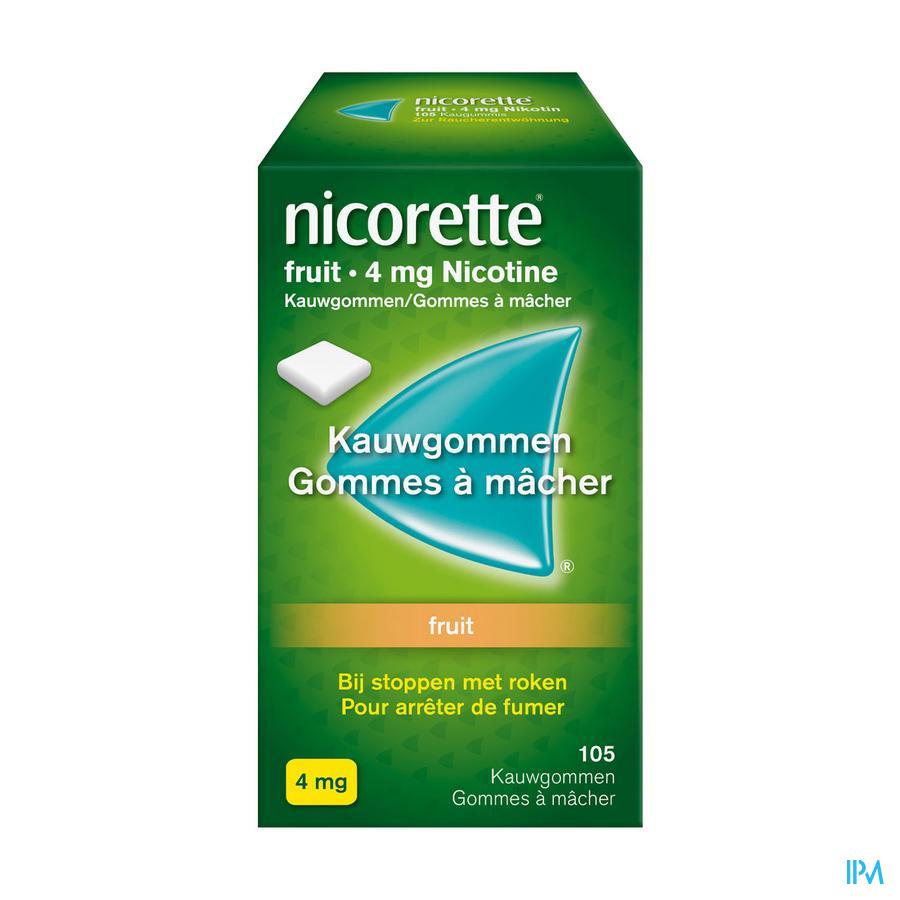 Nicorette Fruit Kauwgom 105x4mg