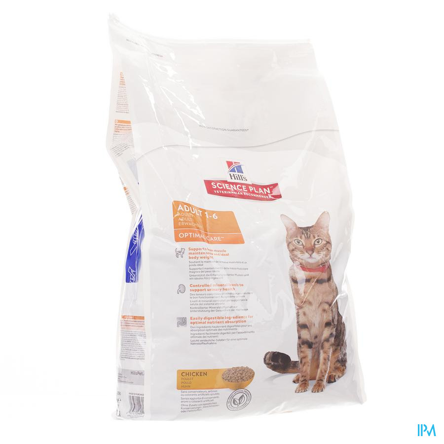 Hills Sc.plan Feline Adult Chicken 10kg 4296n
