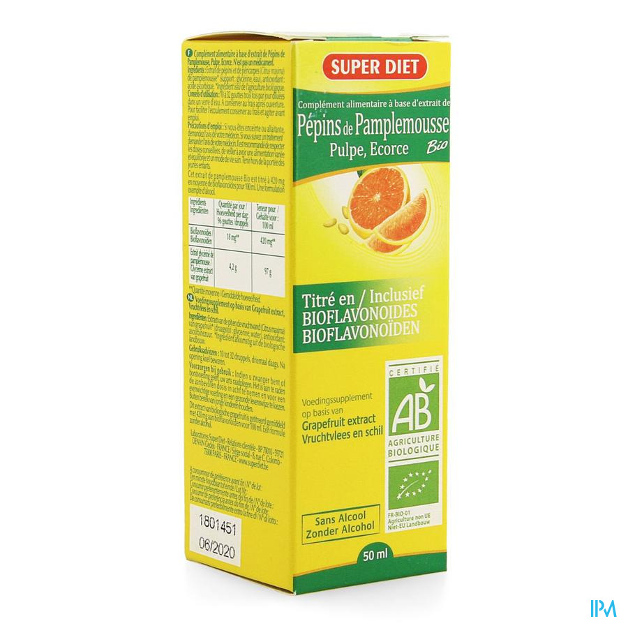 Super Diet Extract Pompelmoespit 400mg 50ml