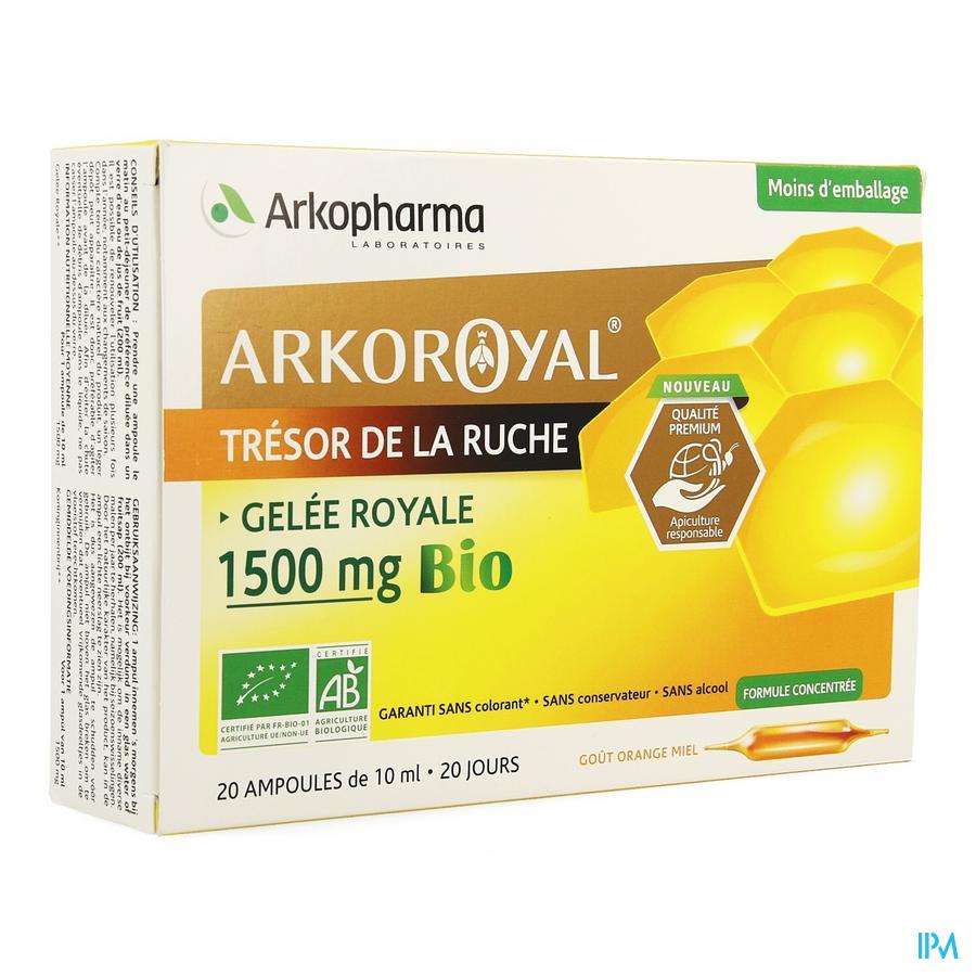 Arkoroyal Koninginnebrij Bio 1500 mg Ampullen 20x10 ml