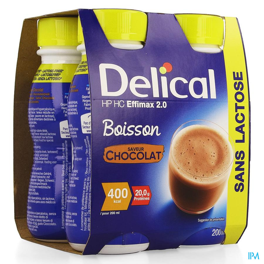 Delical Effimax 2.0 Chocolade 4x200ml