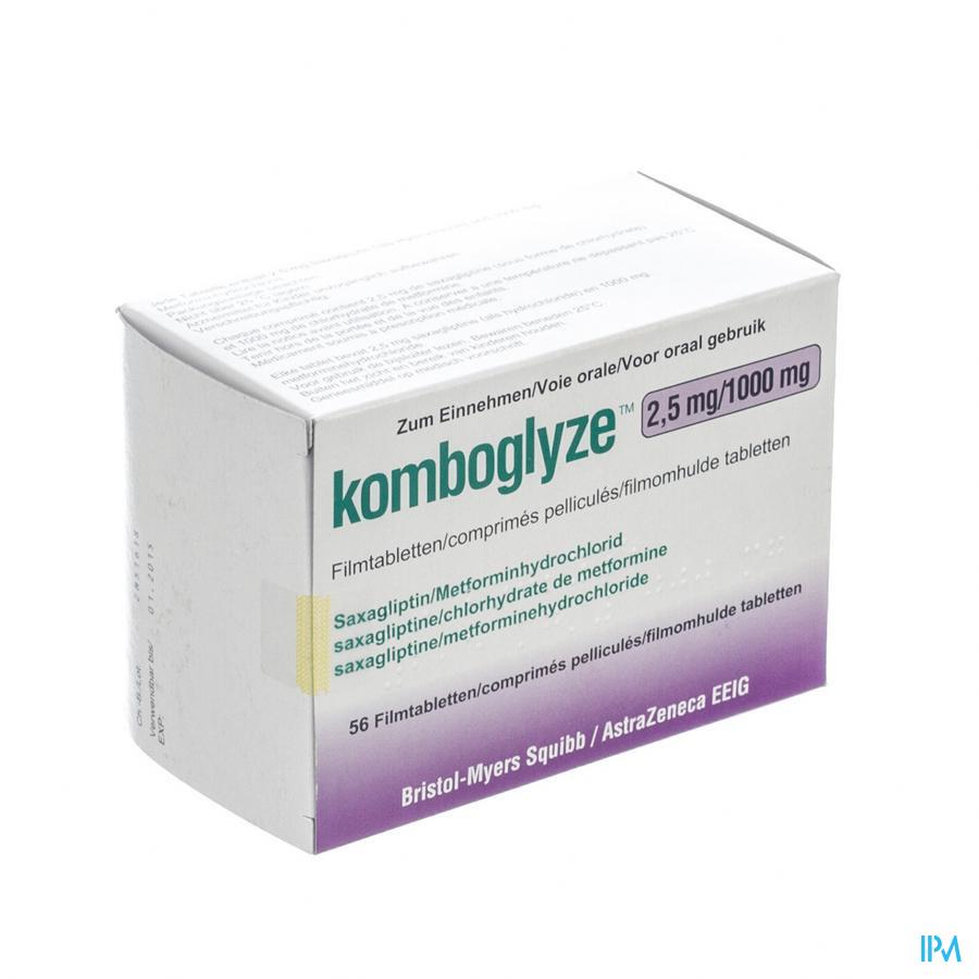 Komboglyze 2,5 mg/1000 mg Filmomhulde Tabletten 56