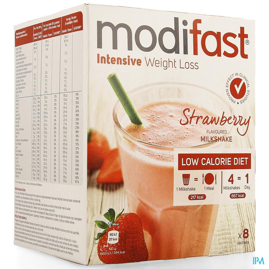 Modifast Intensive Strawberry Flav.milkshake 8x55g