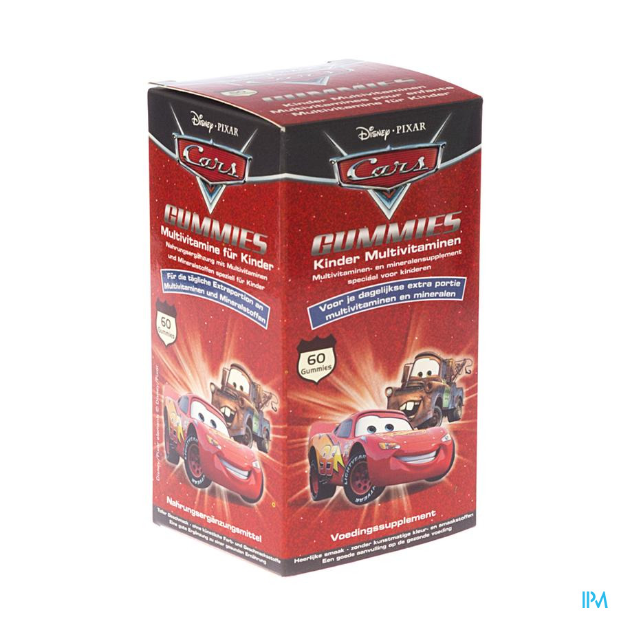 Disney Multivitaminen Kinder Cars Gum. 60