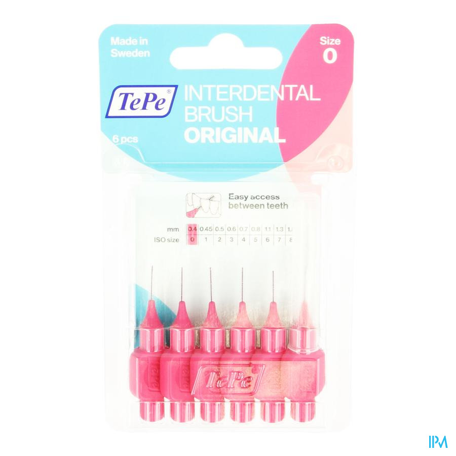 Tepe Interdental Brush 0,40mm Pink 6