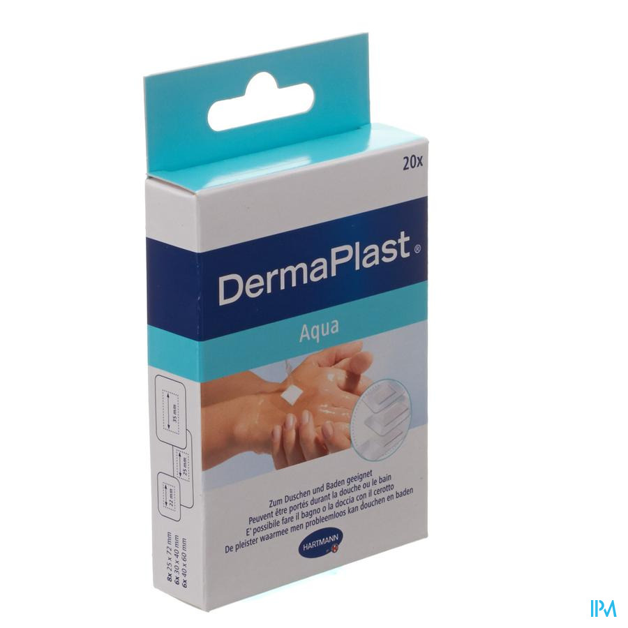DERMAPLAST AQUA STRIPS          3 SIZES 20 5355011