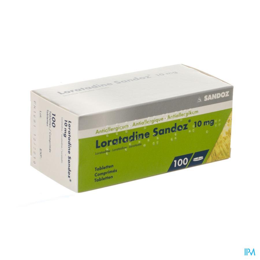 Loratadine Sandoz Tabletten 100 X 10 mg