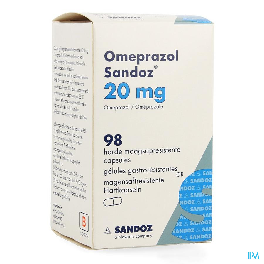 Omeprazol Sandoz Caps Enter 98 X 20mg