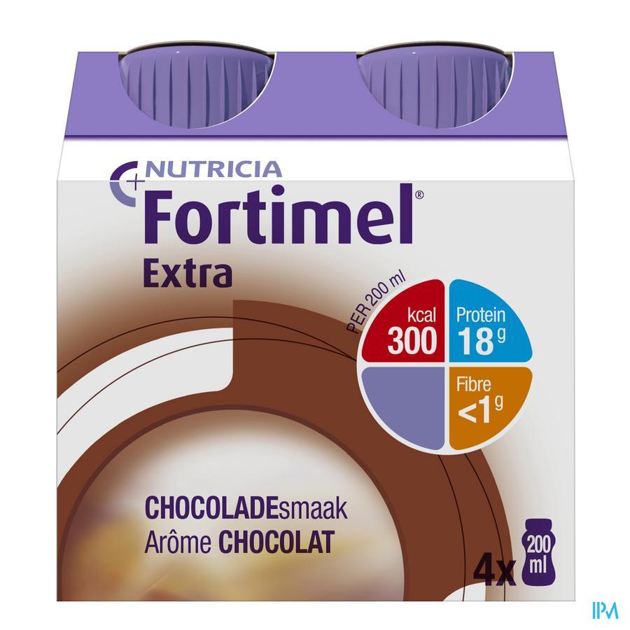 Fortimel Extra Choco 4x200 ml 2401495  -  Nutricia