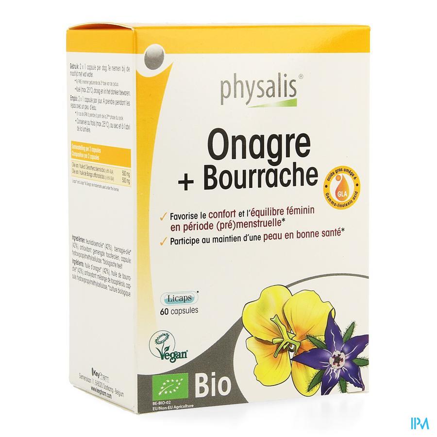 Physalis Teunisbloem+bernagie Bio Caps 60
