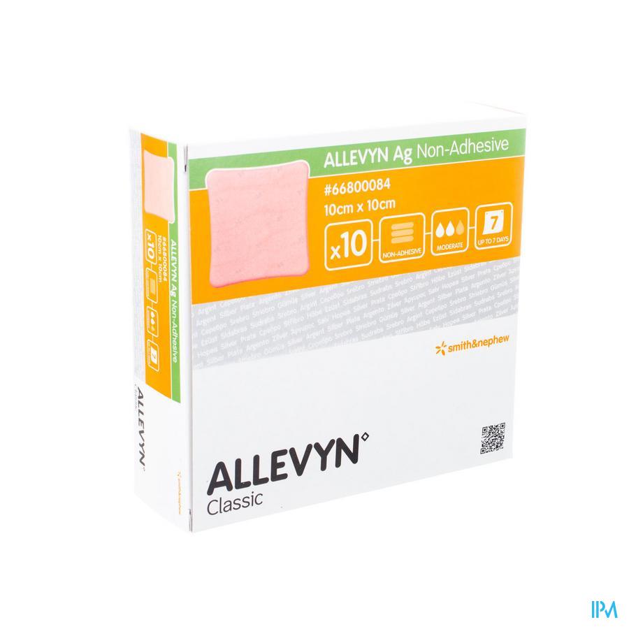 Allevyn Ag N/adhesive Ster 10,0x10,0cm 10 66800084