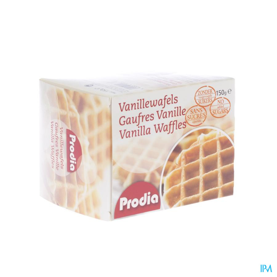 Prodia Wafel Vanille + Zoetstof 150g 5687