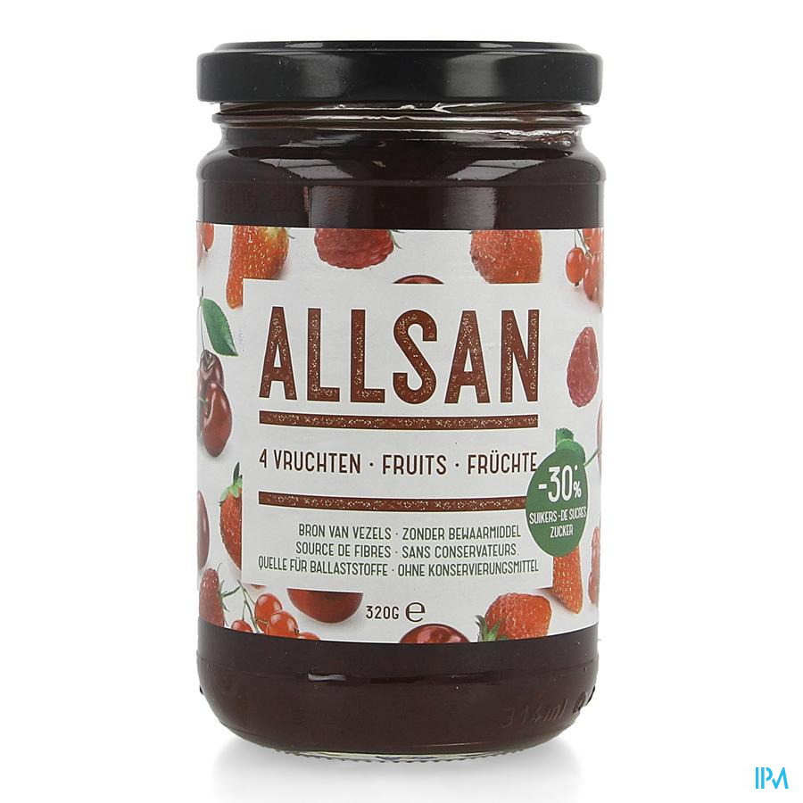 Allsan Pate Tartiner 4 Fruits 320g