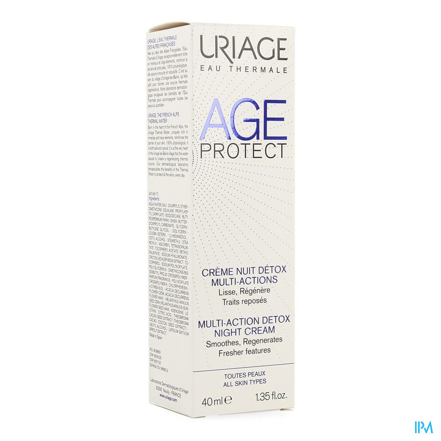 Uriage Age Protect Creme Nuit Multi Actions 40ml