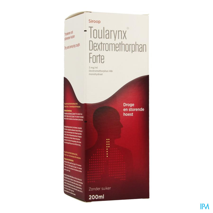 Toularynx Dextromethorphan Forte 3mg/ml Sir. 200ml