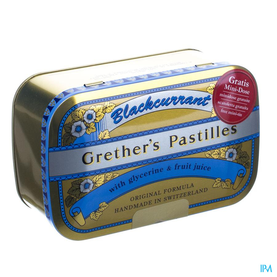 Grether's Pastilles Blackcurrant Past 440g