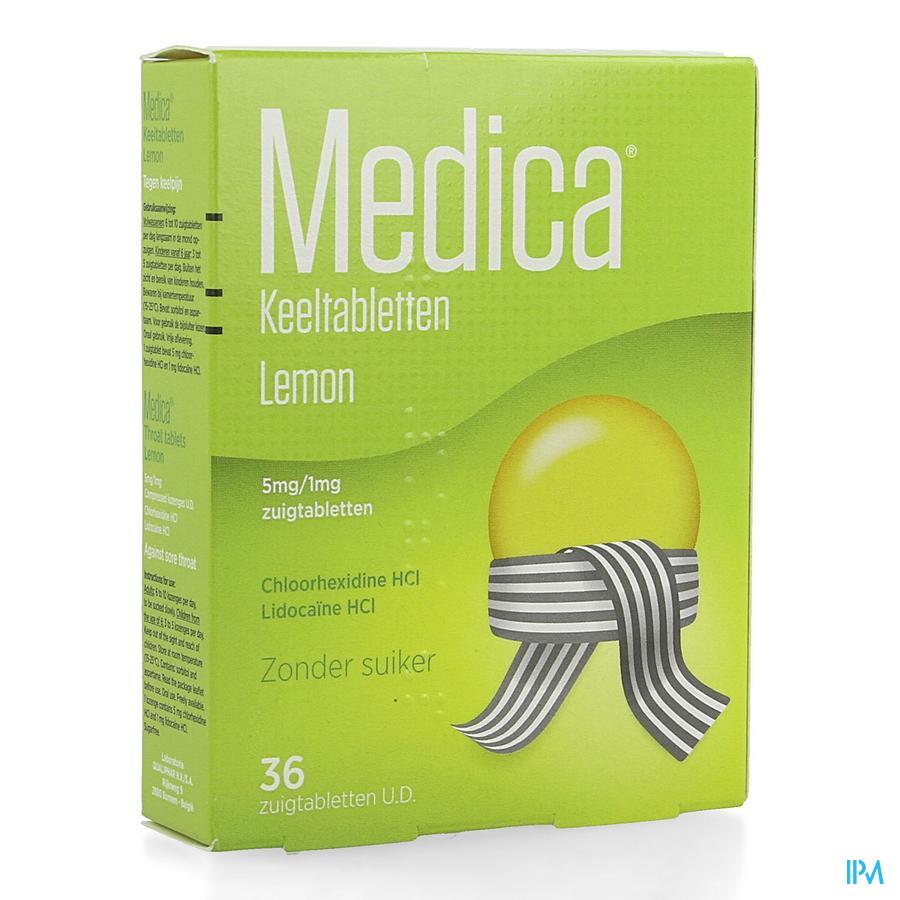 Medica Keeltabletten Lemon 36 zuigtabletten