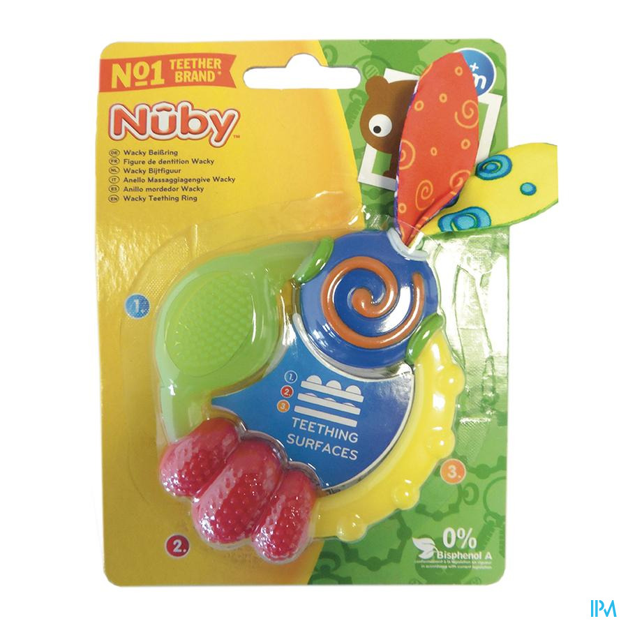 Nûby Anneau de dentition Wacky™ - 3m+