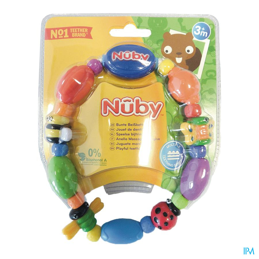 Nuby Speelse bijtketting Bug-a-Loop™ - 3m+