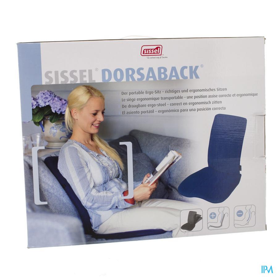 Sissel Dorsaback -pad Rugsteun+assise Zwart