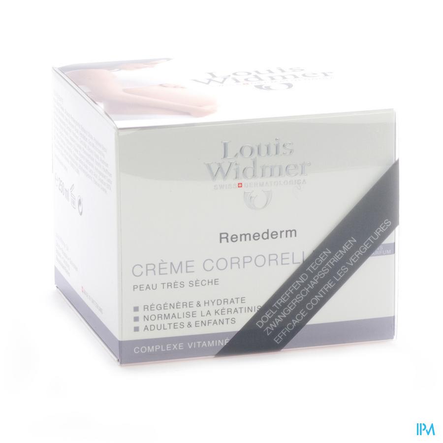 Widmer Remederm Creme N/parf Pot 250ml