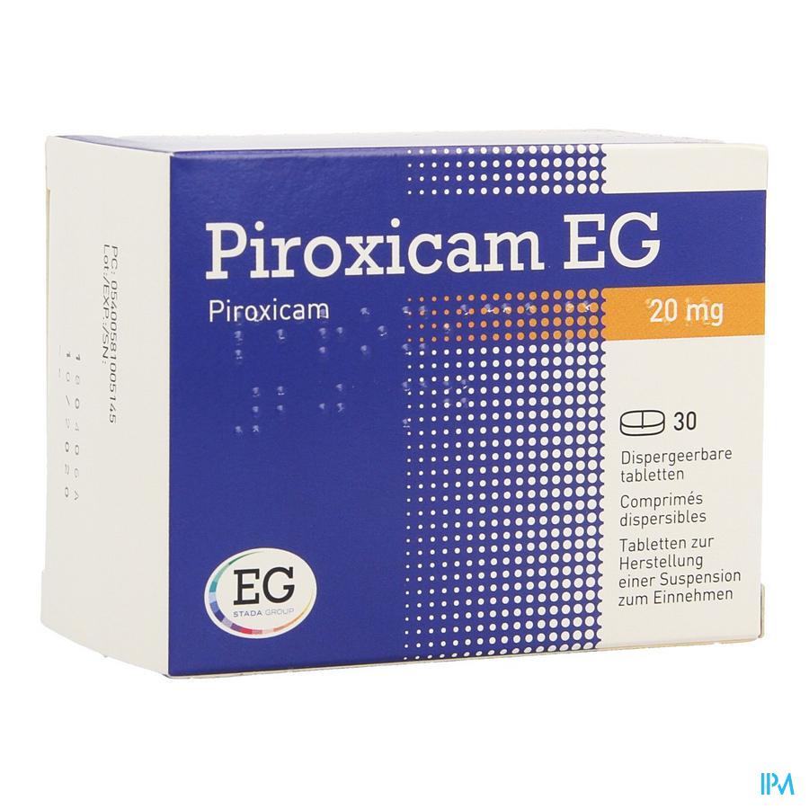 Piroxicam Eg Comp Dis 30x20mg