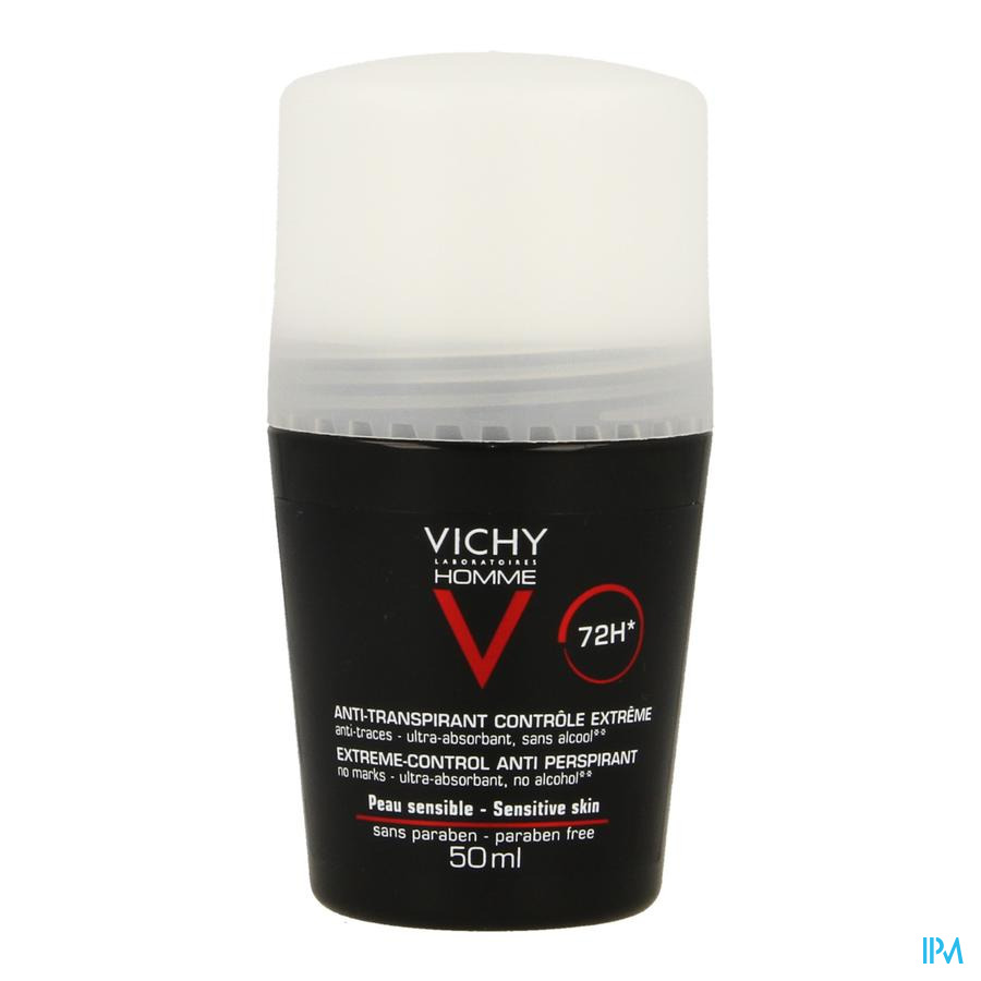 Vichy Homme Deo A/transp. 72u Roller 50ml