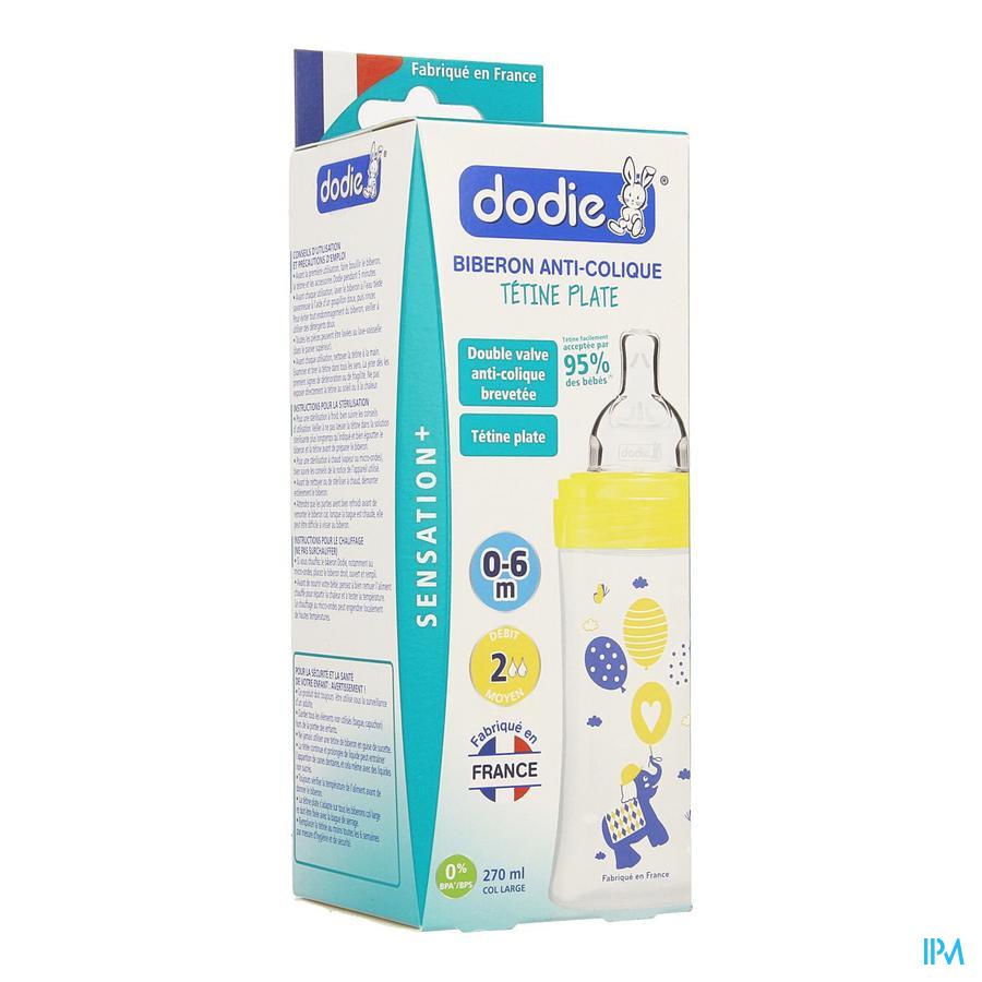 Dodie Zuigfles Sensation+ Gele Olifant 0-6m 270ml