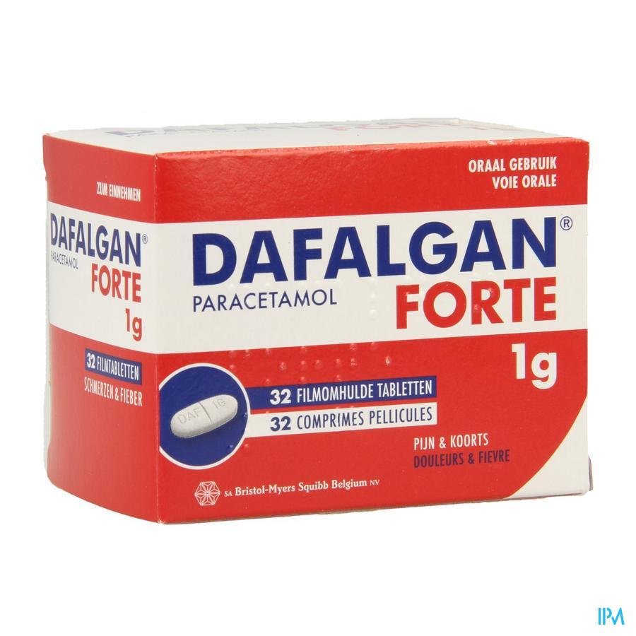 Dafalgan Forte Droog 1g Tabl 32