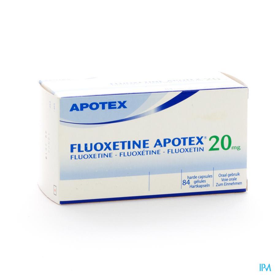 Fluoxetine Apotex Caps 84 X 20mg