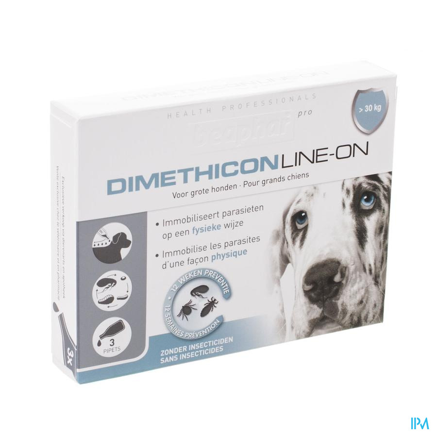 Beaphar Pro Dimethicon Line-on Grand Chien 3x4,5ml