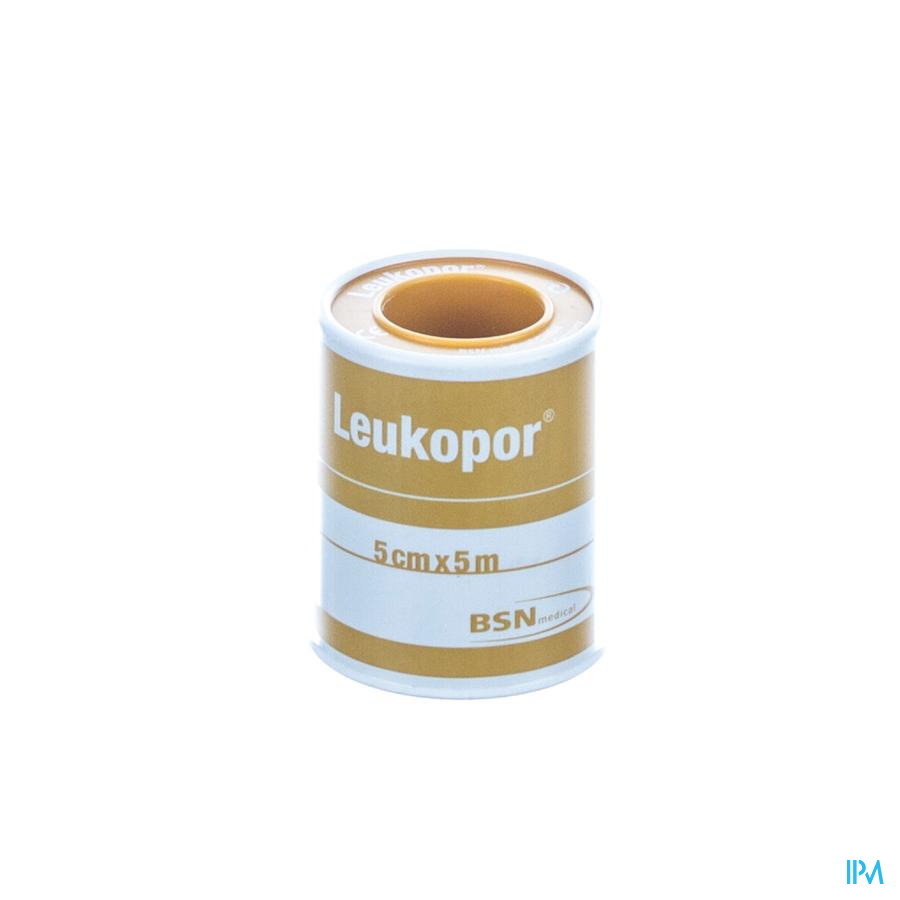 Leukopor Fourreau Sparadrap 5,00cmx5,0m 1 0247400