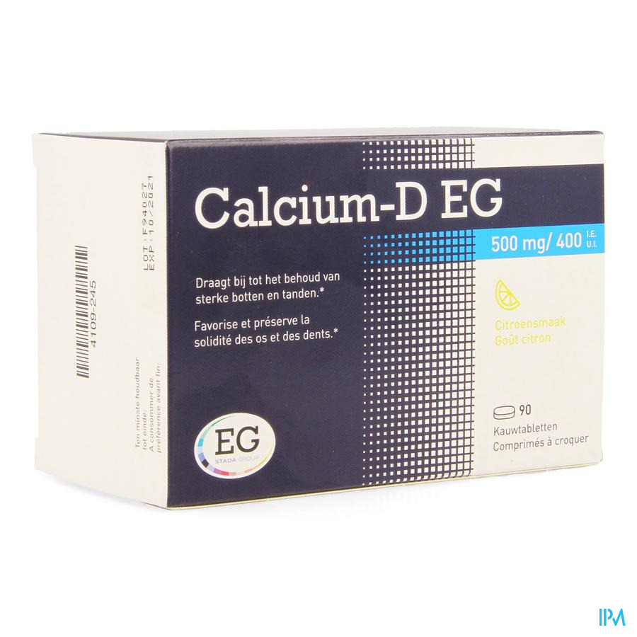 CALCIUM-D EG 90 KAUWTABL 500 MG/400IE