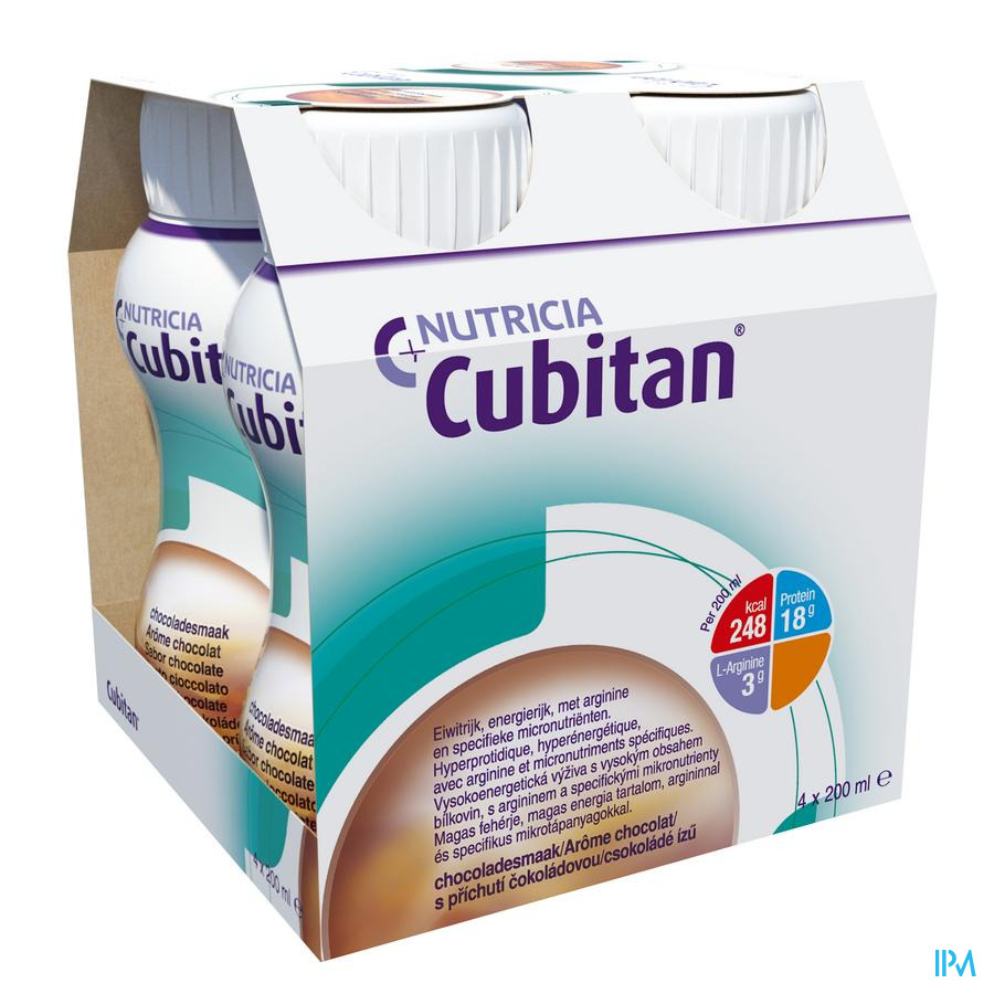 Cubitan Choco 4x200 ml  -  Nutricia