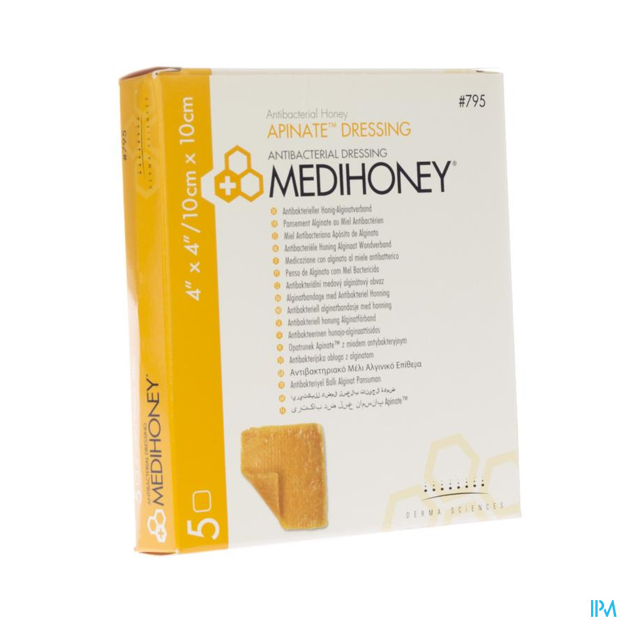 Medihoney Pans Alginate Miel A/bact. 10x10cm 5