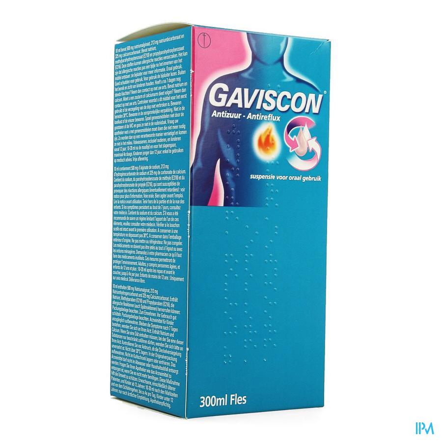 Gaviscon Antireflux Antizuur Orale Susp 300ml