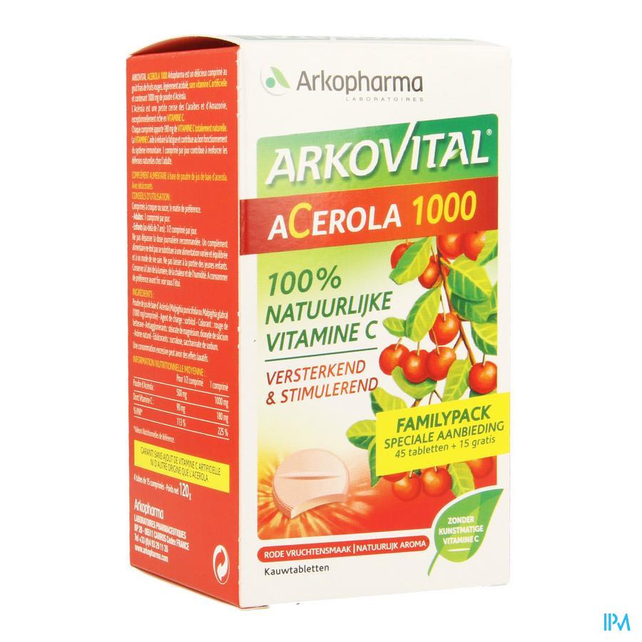 Acerola 1000 Familypack Kauwtabletten 60