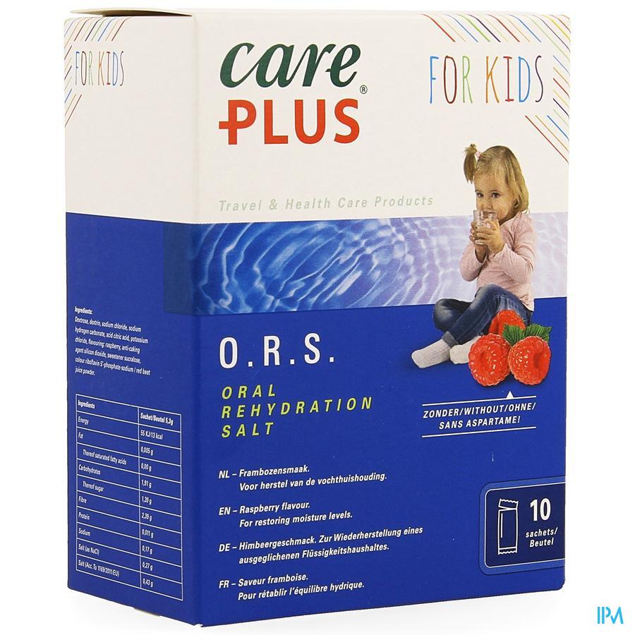 Care Plus Ors Kids Raspberry Zakje 10x5,3g