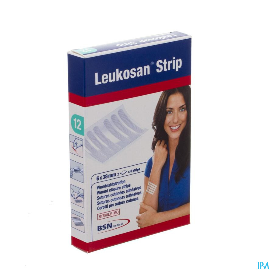 Leukosan Strip Ster 6x 38mm Wit 2x 6 7262806