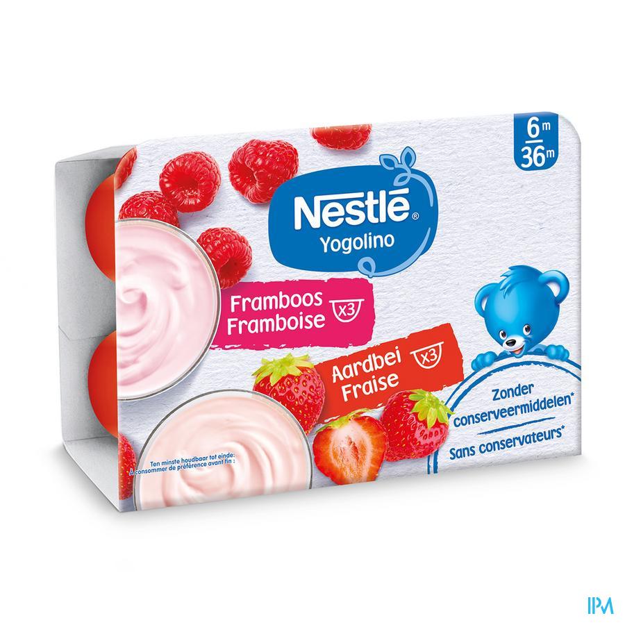 Nestle Yogolino Aardbei Framboos 6x60g