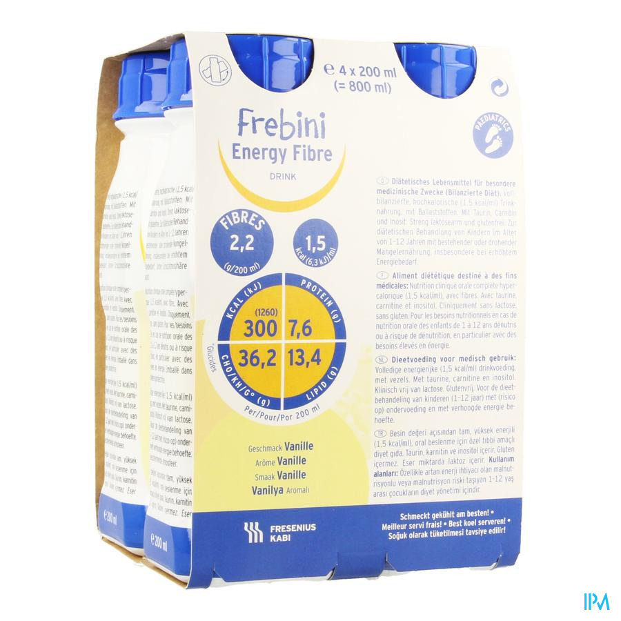 Frebini Energy Fibre Drink Kind Vanil Easyb4x200ml